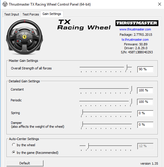 Rfactor 2 T300 Settings