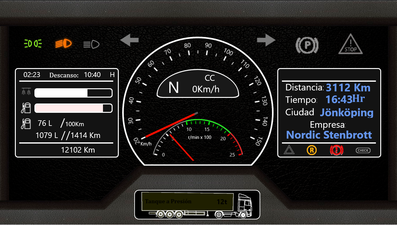 SimHub Dashboards for ETS2 | RaceDepartment - Latest Formula