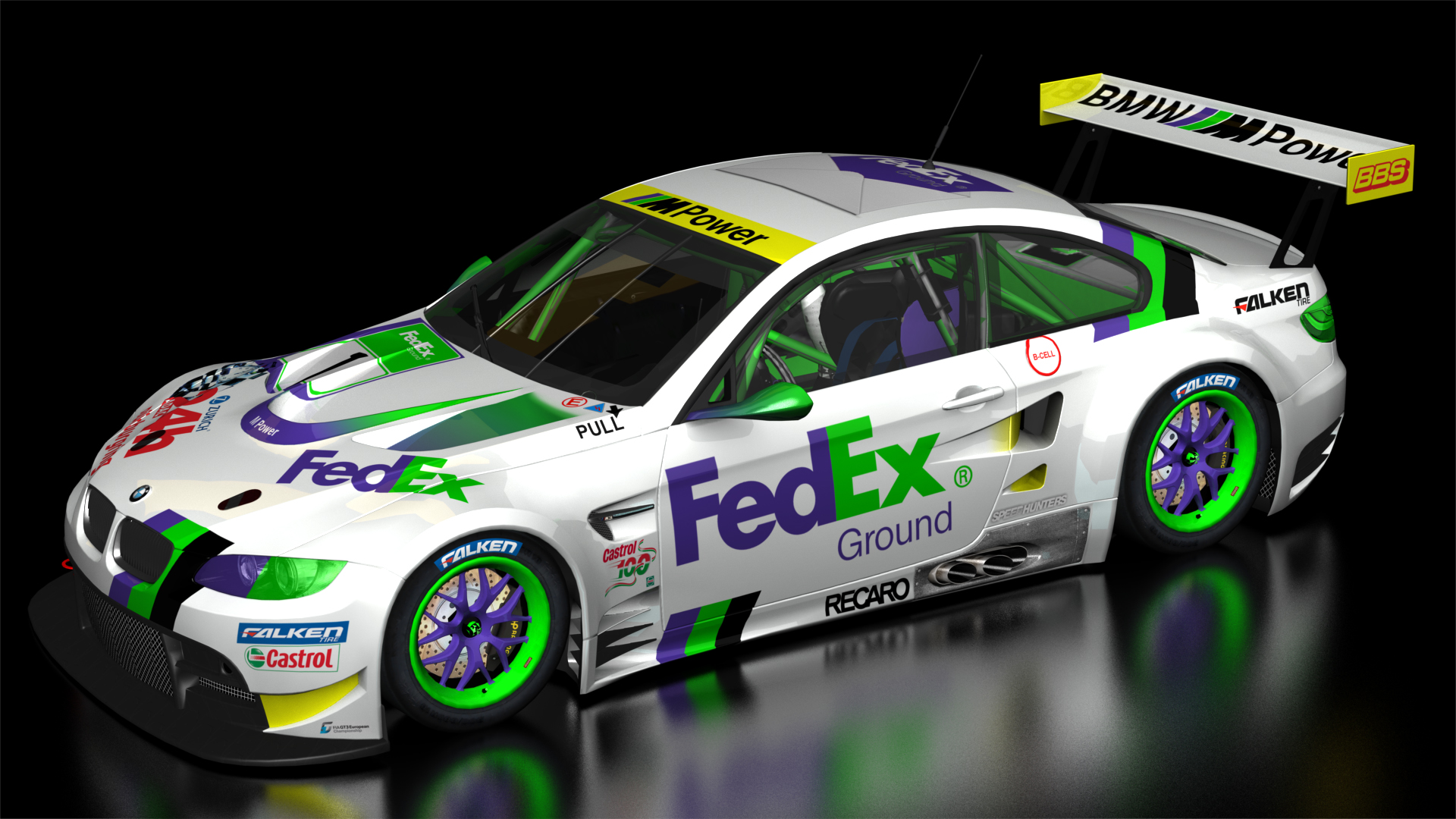 White Car Names >> BMW GT2 Fedex Racing Team + Livery | RaceDepartment
