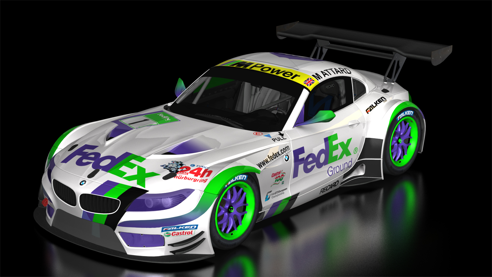 Bmw Gt3 Fedex Racing Team Livery Racedepartment