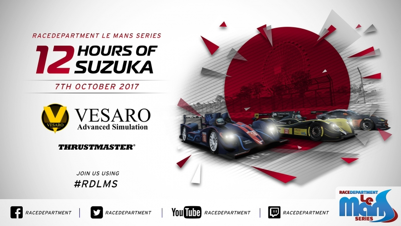 RDLMS by Vesaro: Thrustmaster 12h of Suzuka Starts Today!
