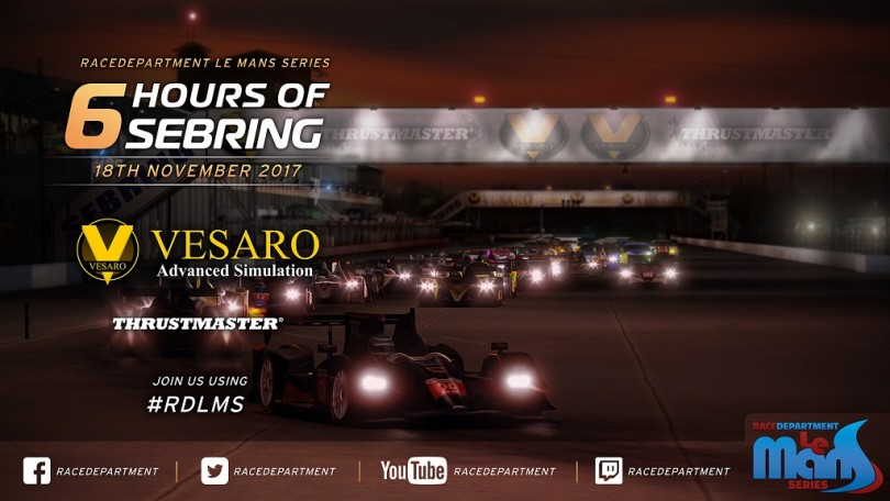 RDLMS by Vesaro Thrustmaster Six Hours of Sebring This Weekend!