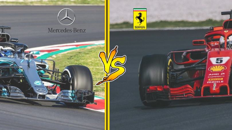 Car VS Car: Ferrari SF71H versus Mercedes AMG F1 W09