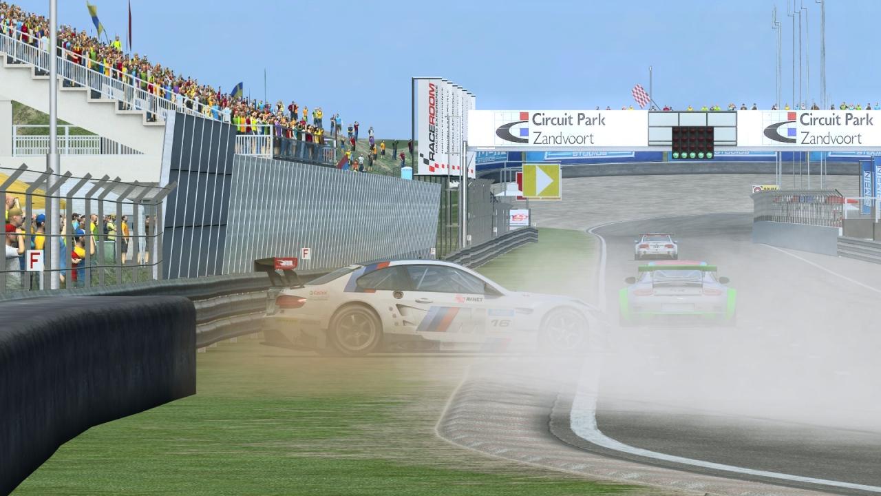 BMW M3 GT2 Zandvoort crash
