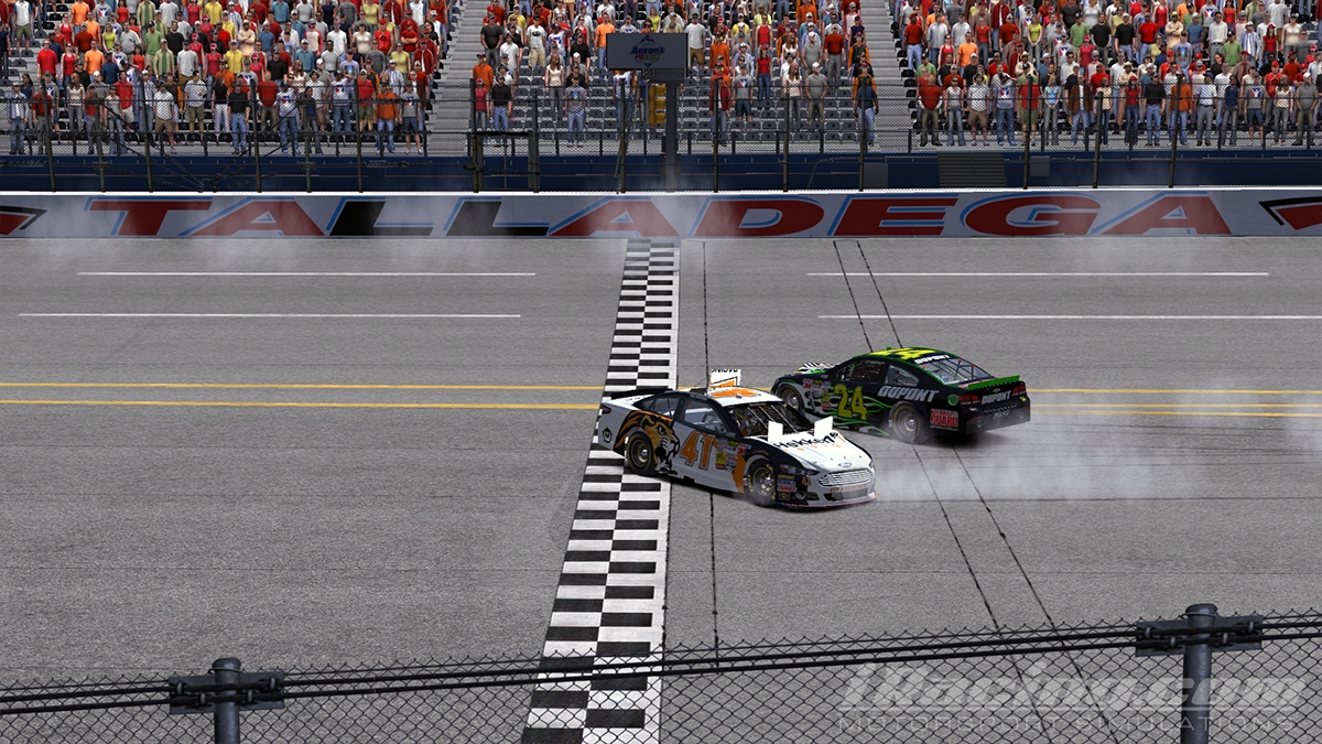 Typical super speedway finish