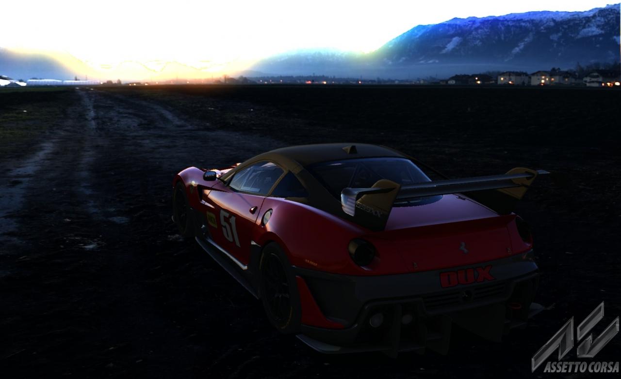 Ferrari 599xxevo Sunset