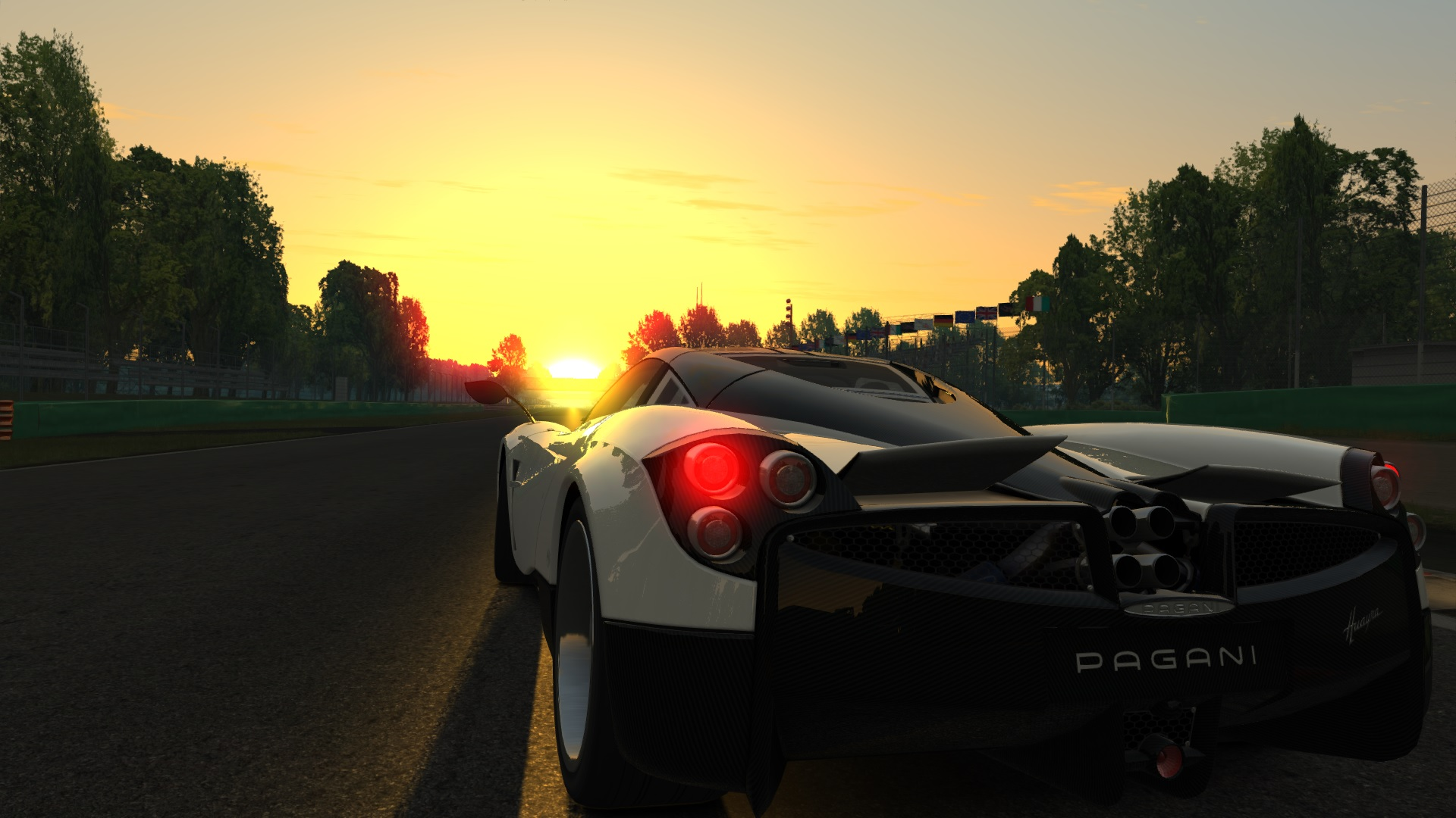 Huayra in sunset