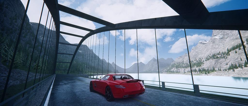 Assetto Corsa - Mercedes SLS Lake Louise 01