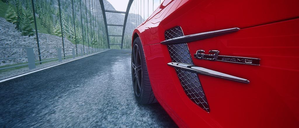 Assetto Corsa - Mercedes SLS Lake Louise 02
