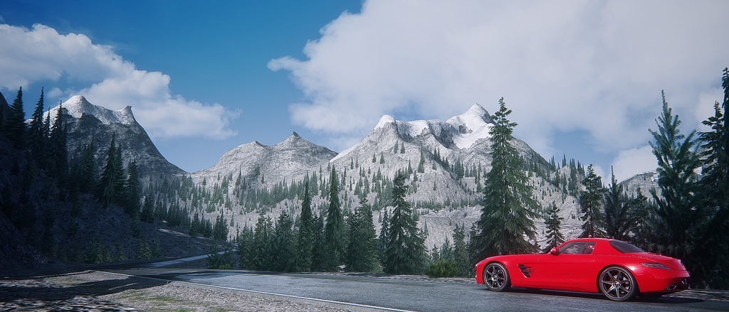 Assetto Corsa - Mercedes SLS Lake Louise 05