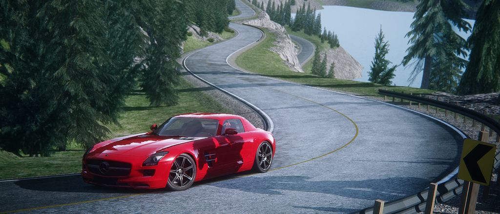 Assetto Corsa - Mercedes SLS Lake Louise 11