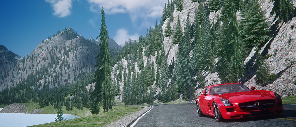 Assetto Corsa - Mercedes SLS Lake Louise 13