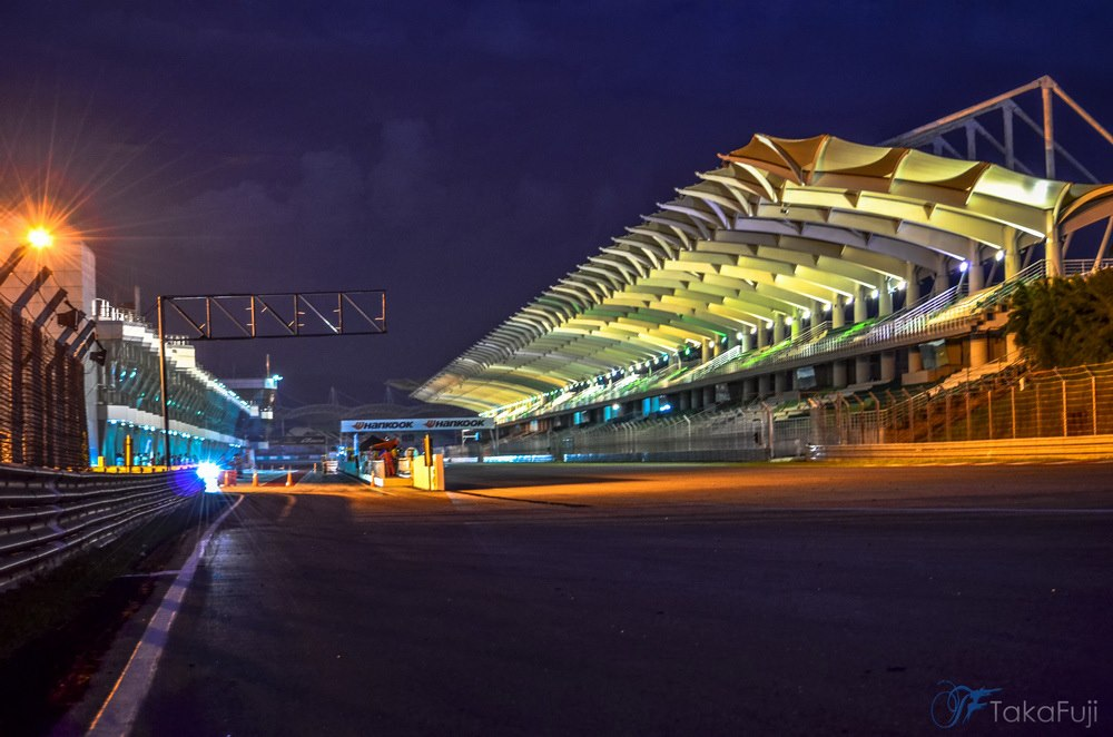 Evening view of Sepang International Circuit, Malaysia