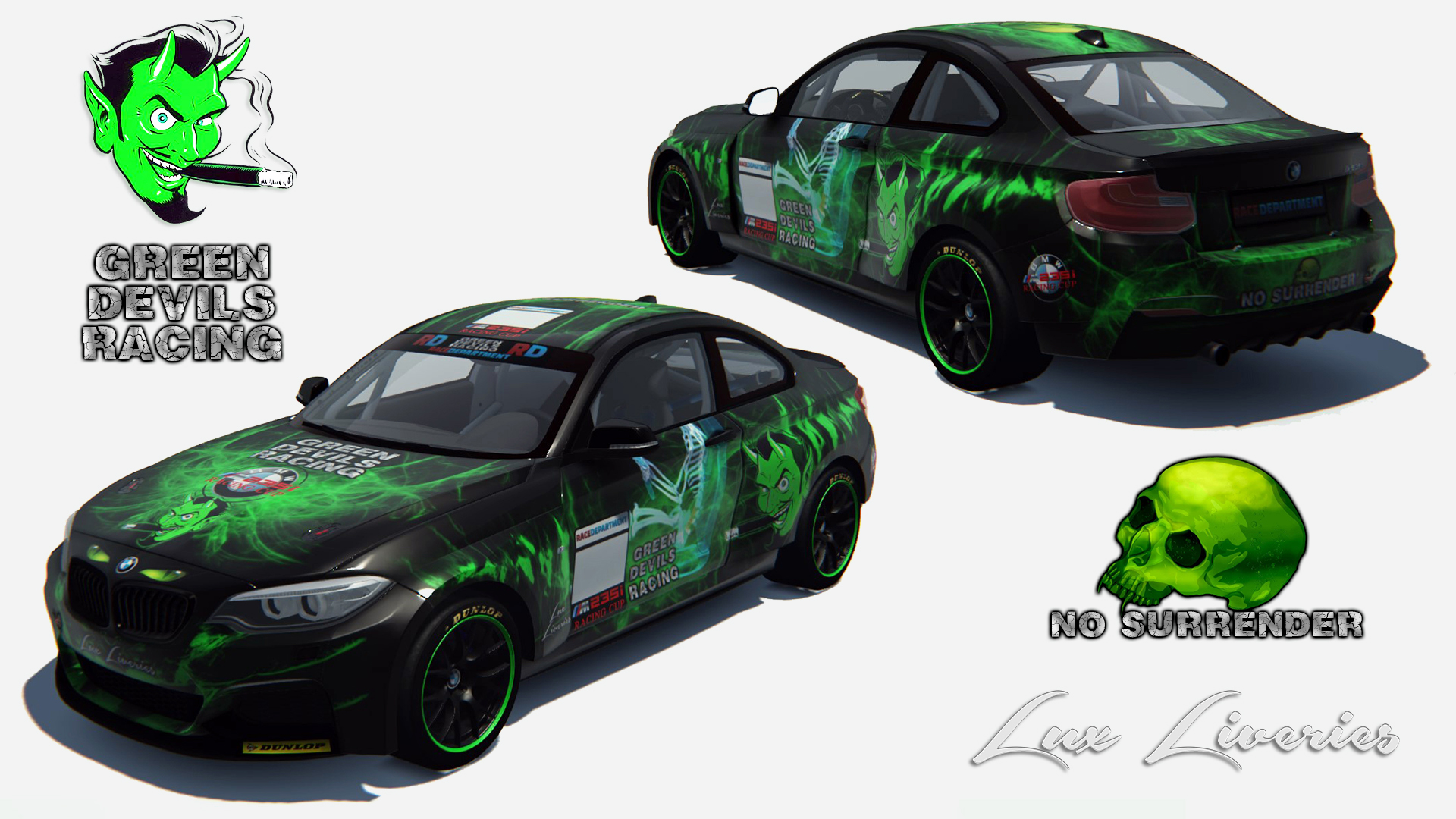 AC BMW 235i Green Devils Racing Livery