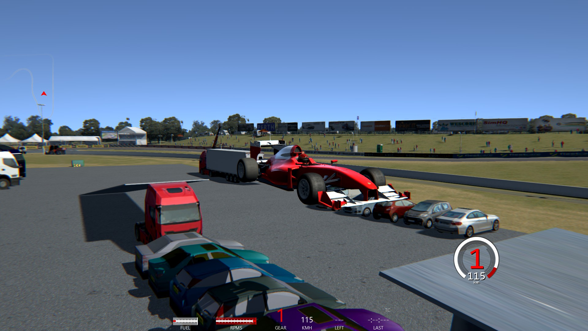 Assetto Corsa - Who said F1 cars can't stunt jump?