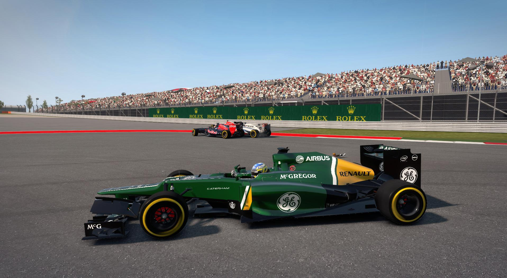 F1 2013 - Debris on my car!