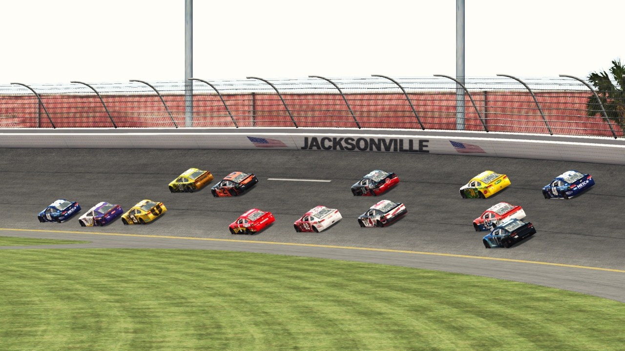 Turn one at Jacksonville