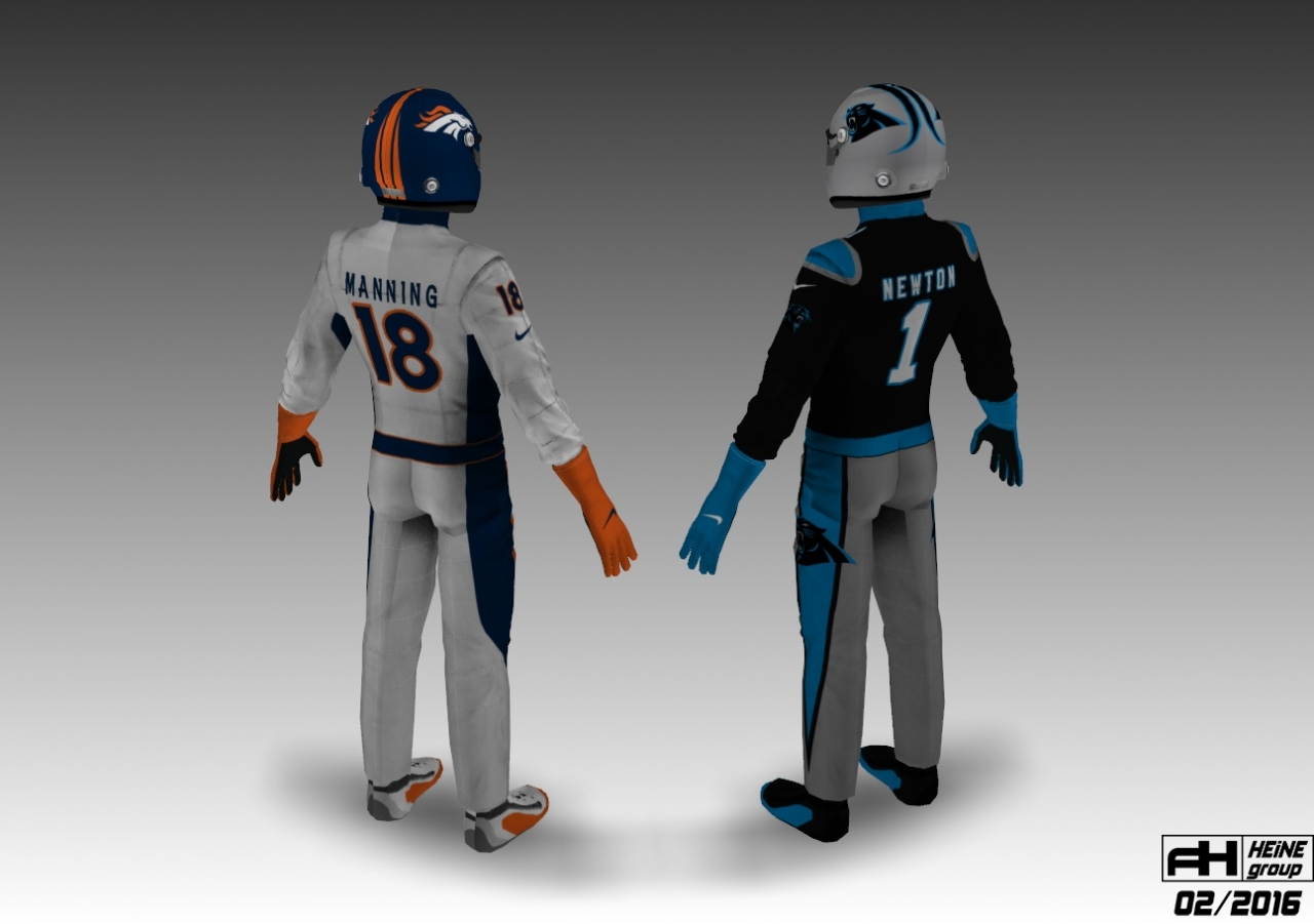 Super Bowl 50 Corvette C7R skinpack 1.1 driver suits