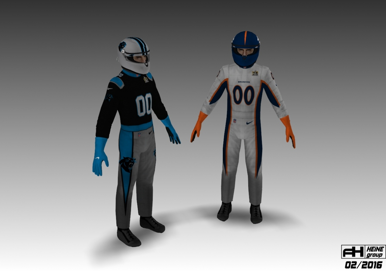 Super Bowl 50 Corvette C7R skinpack 1.1 team suits