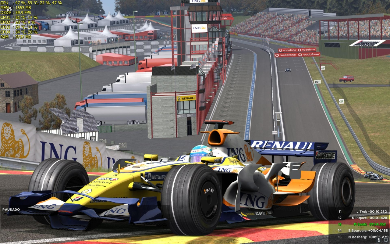 F1 2008 SPA EAU ROUGE ALONSO RENAULT