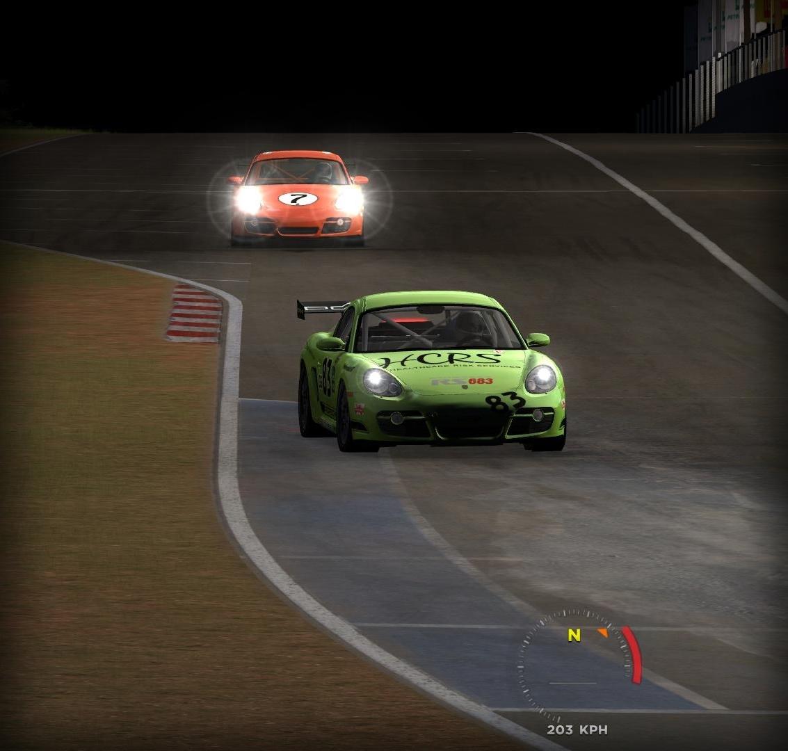 Porsche Cayman Cup @ Night