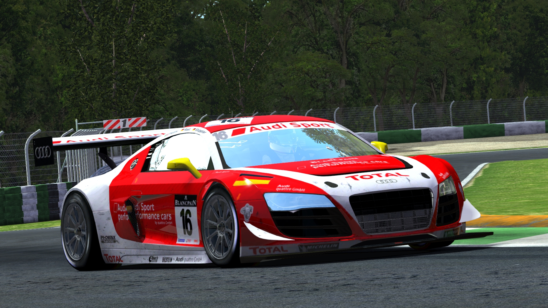 #16 Phoenix Racing Audi R8 LMS Ultra @ Mills Metro Park Outer Loop A