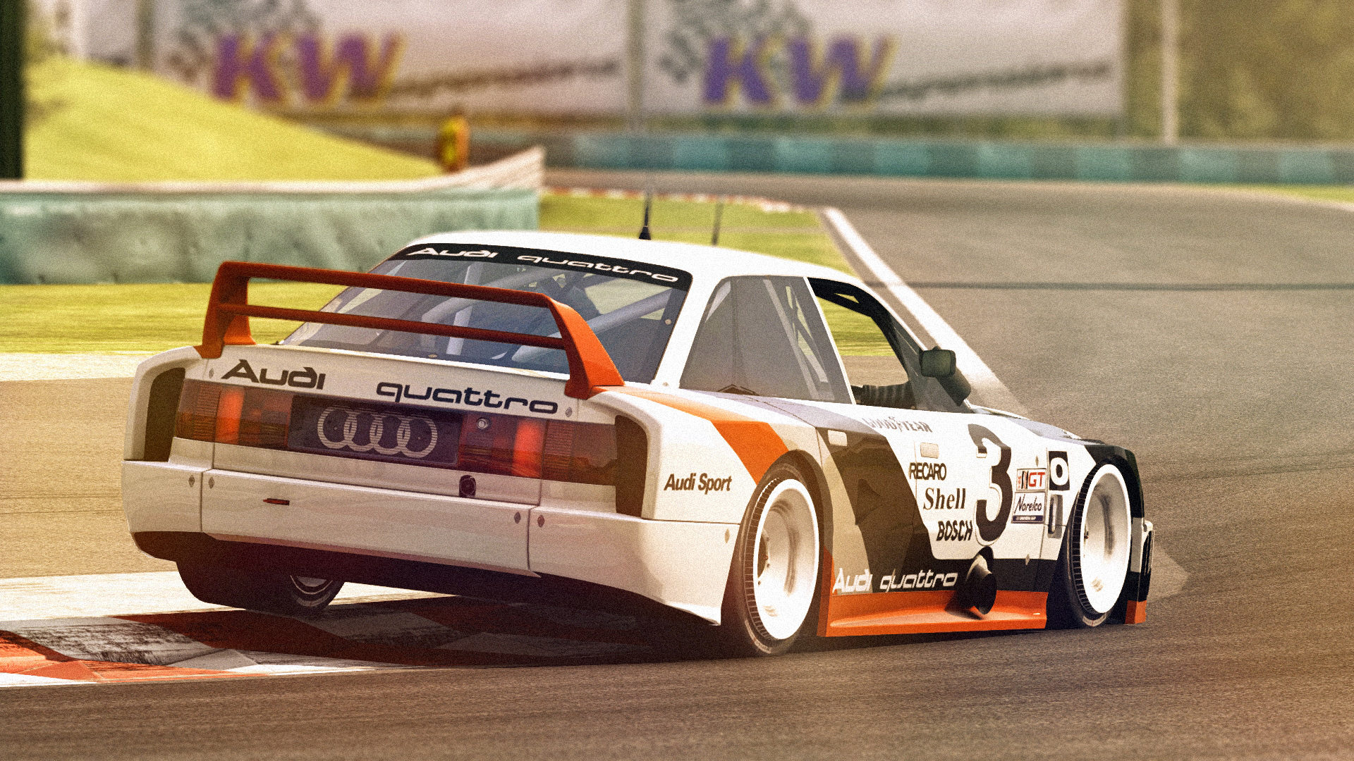 Audi 90 quattro IMSA GTO @ Hungaroring