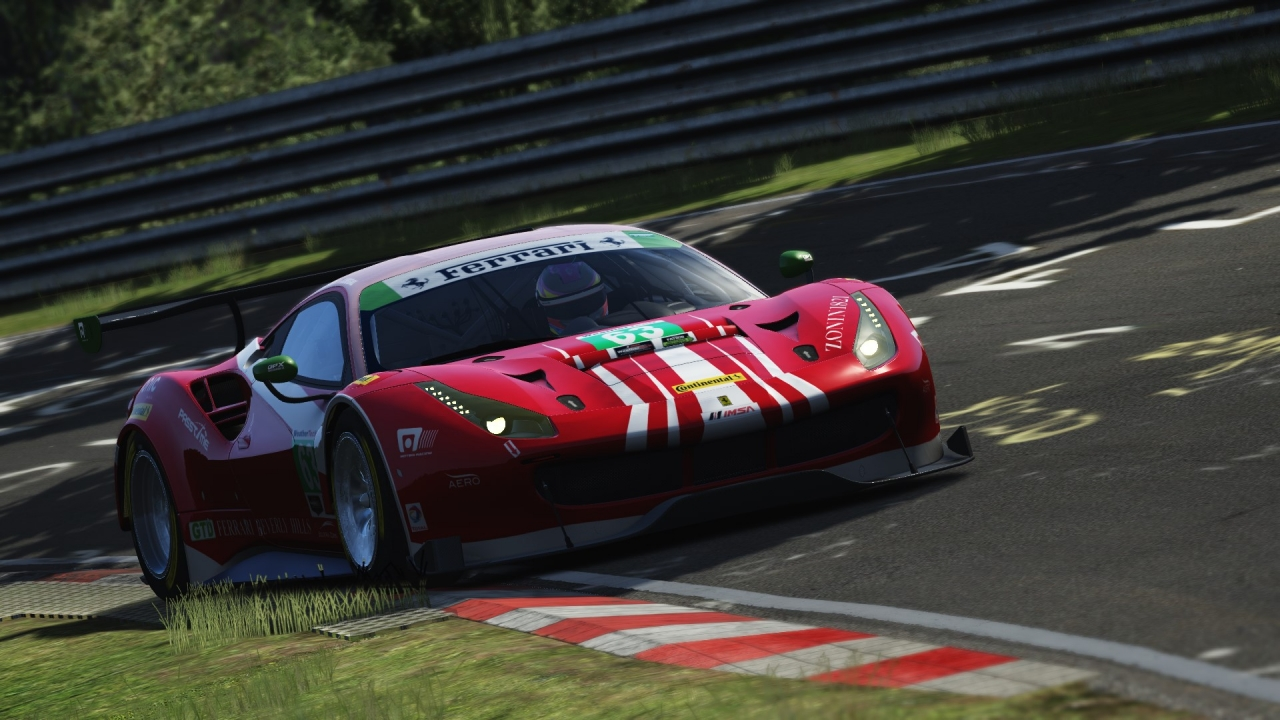 Ferrari 488 GT3 @ Nordschleife With Wagnum's Graphics Mod 7.3