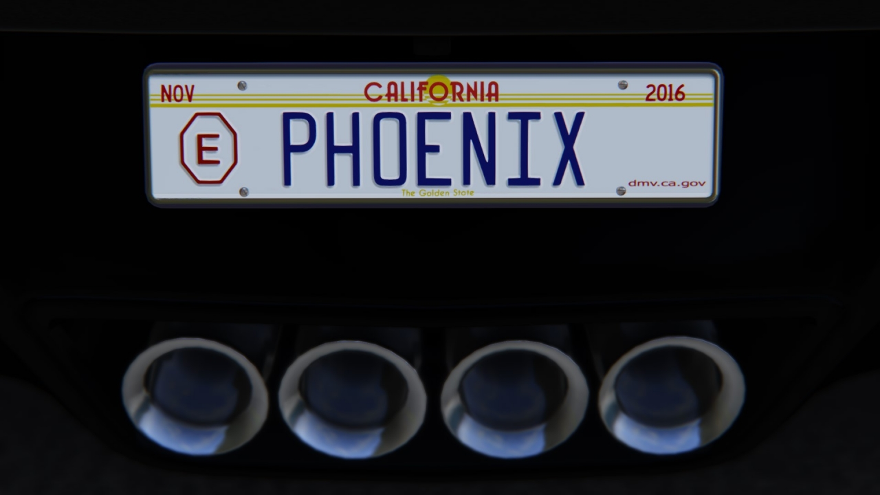 California number plates...