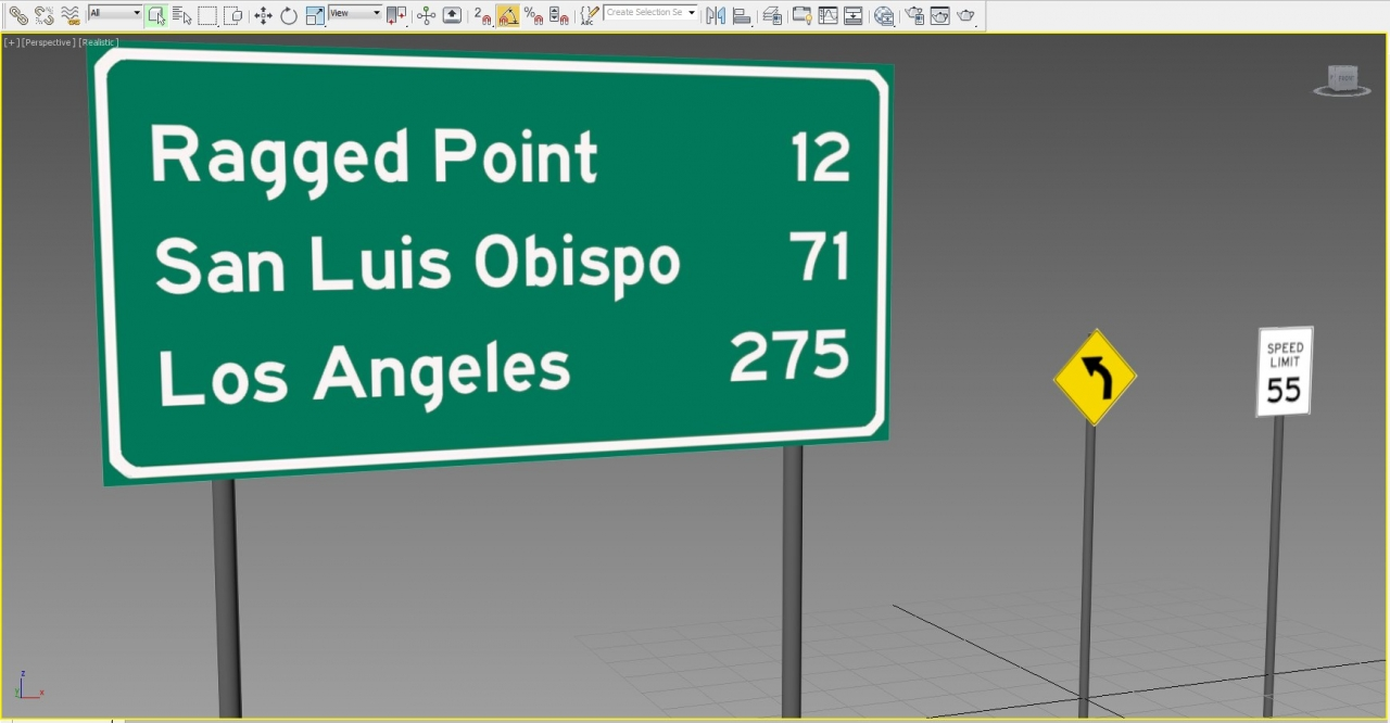 US Highway Roadsigns - Pacific Coast v0.355
