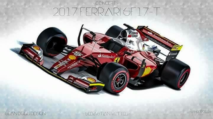 Scuderia Ferrari SF-17H Design for 2017