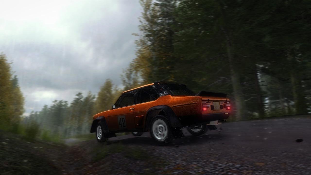 Fiat 131 in a rainy Finland