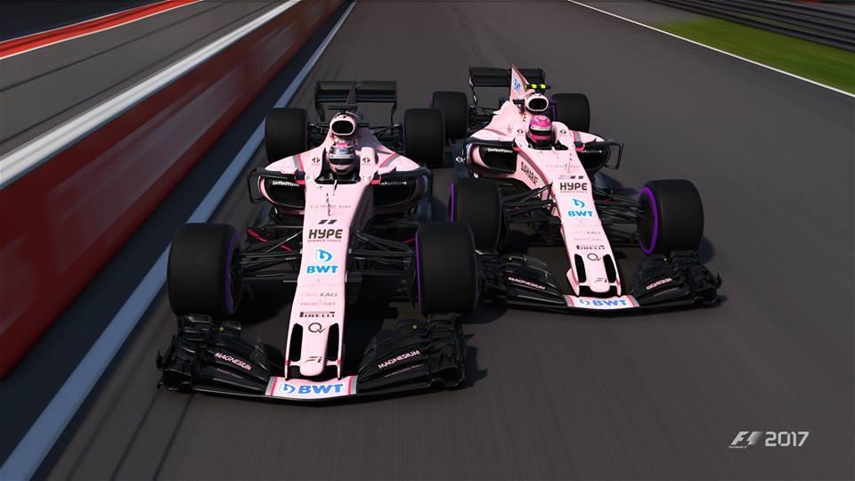 Perez vs Ocon at Spa
