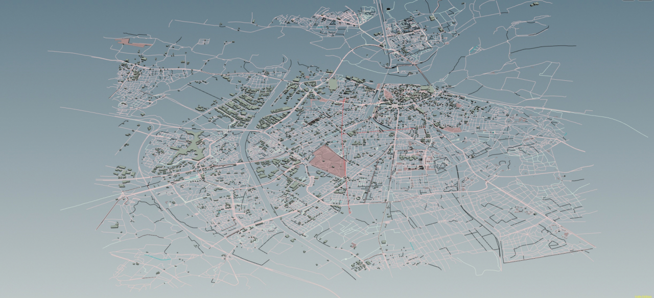 Openstreetmap to Houdini to AC
