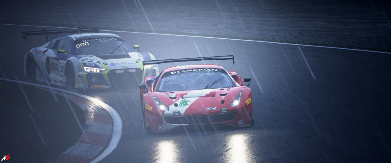 ACC GT3 Race Wet Conditions