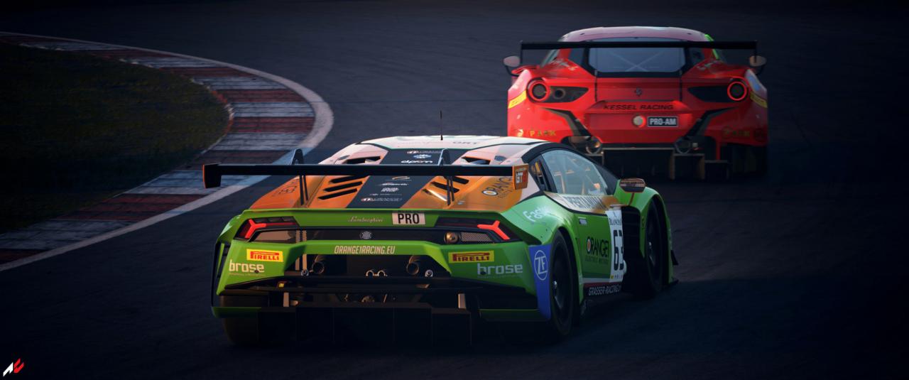 ACC GT3 Race at dusk