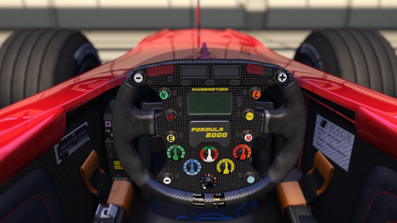 Formula 2000 V10 cockpit view WIP