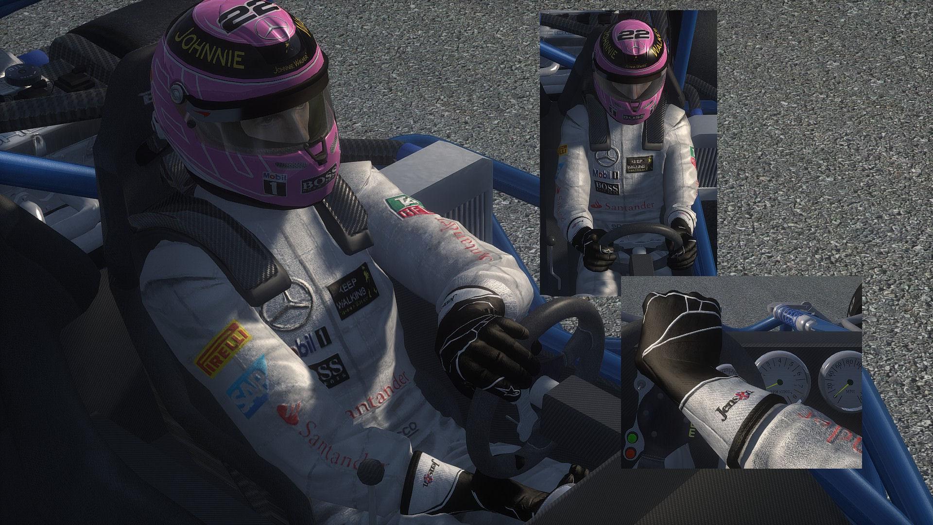 New Jenson Button Suit WIP