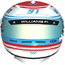 Williams Flag Career Helmet 2019