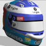 Fernando Alonso Bahrain Test Career Helmet