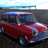Richard Hammonds India Special Mini / White stripes red colored British flag roof classic mini