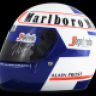 Alain Prost new updated version 1985 helmet