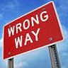 NO Wrong Way sign