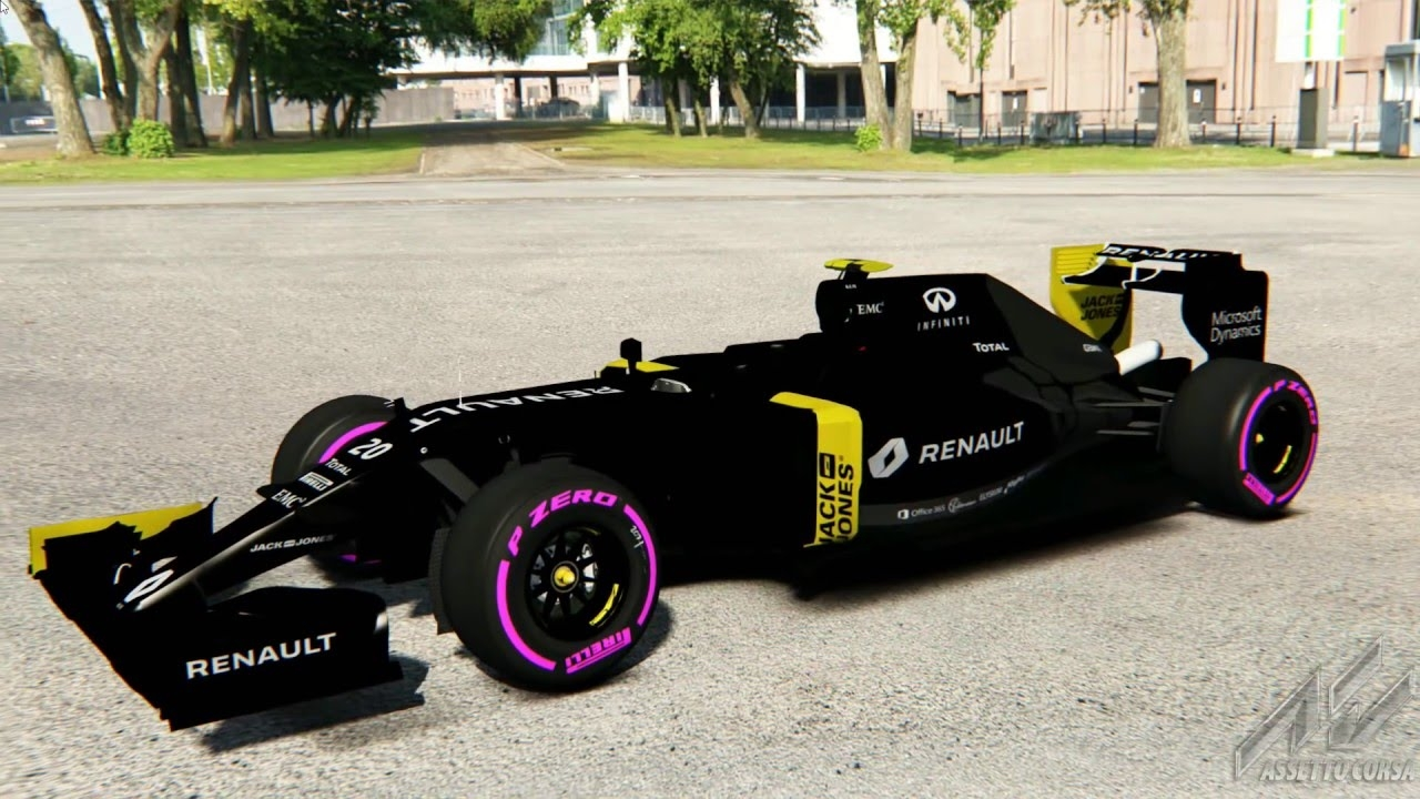 video f1 2016 livery test renault sport rs16 assetto. Black Bedroom Furniture Sets. Home Design Ideas
