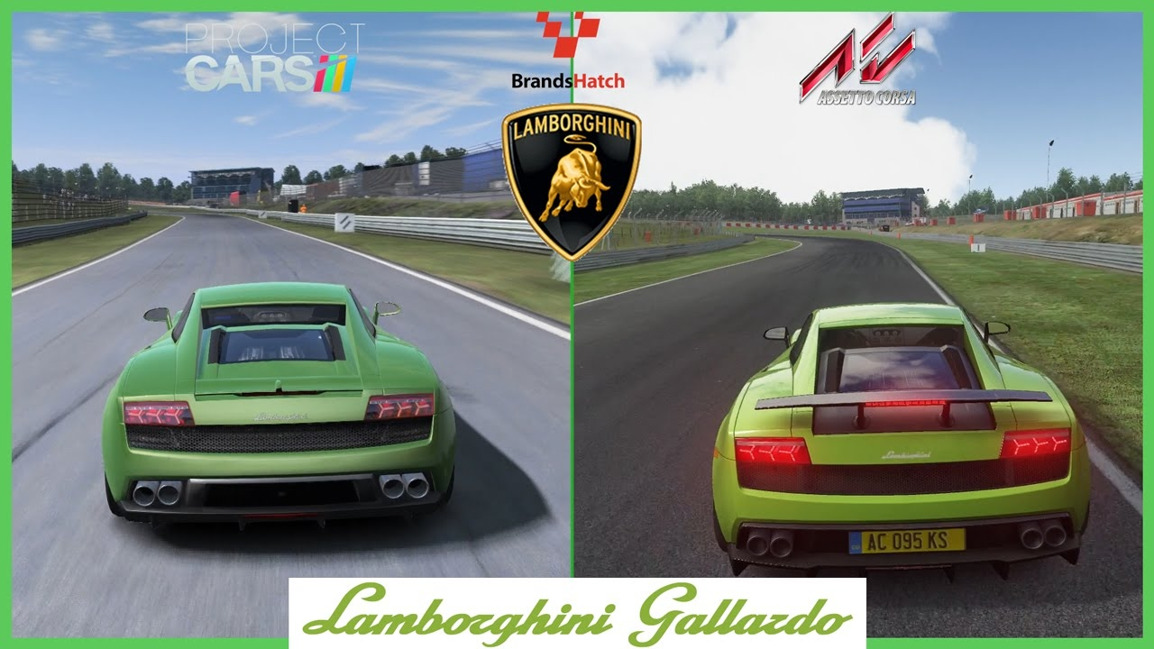 video assetto corsa vs project cars lamborghini gallardo at brands hatch in the album. Black Bedroom Furniture Sets. Home Design Ideas