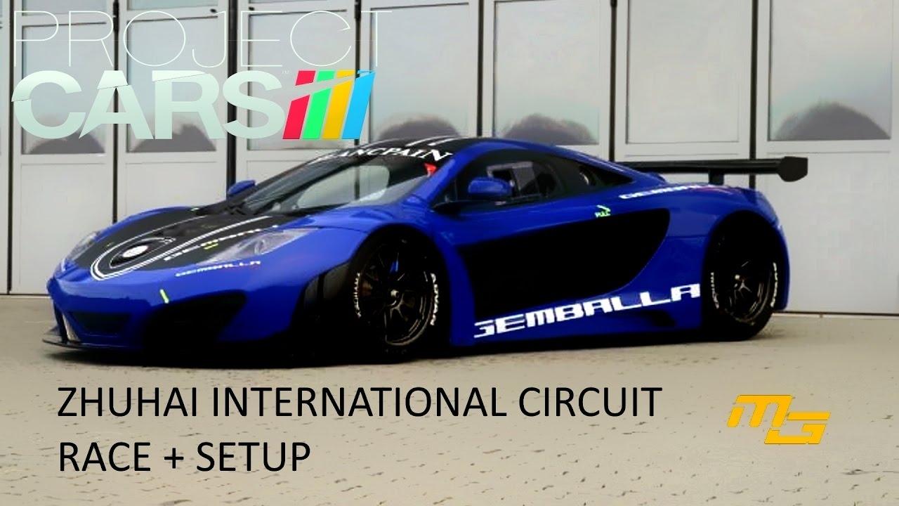 Video Project Cars Zhuhai Race Mclaren Mp4 12c Gt3 Setup In