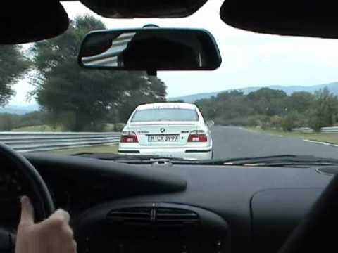 Sabine on the Nürburgring followed by a Porsche 996 GT3