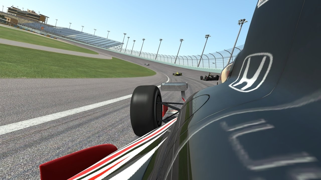 Race Department rFactor 2 Indy Car testing at Barber Motorsport