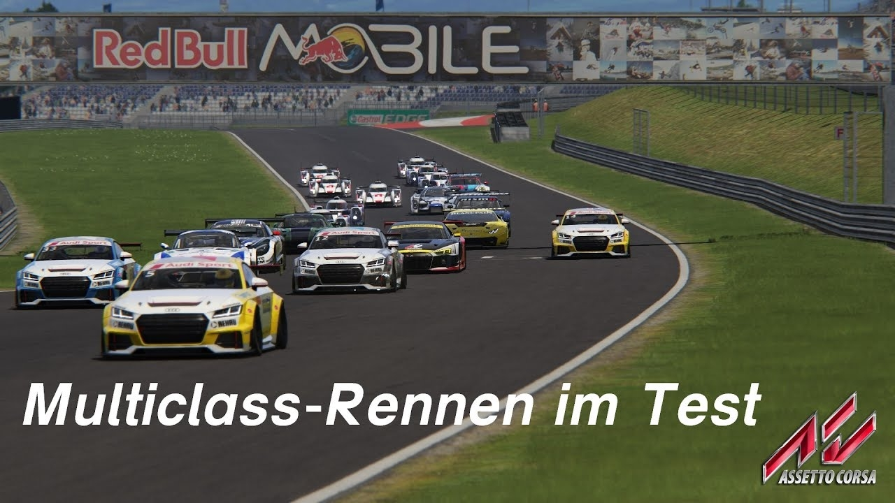 Let's Play - Assetto Corsa (1.14.1) - Multiclass-Rennen im Test - Audi R8 LMS 2016 @Red Bull Ring GP