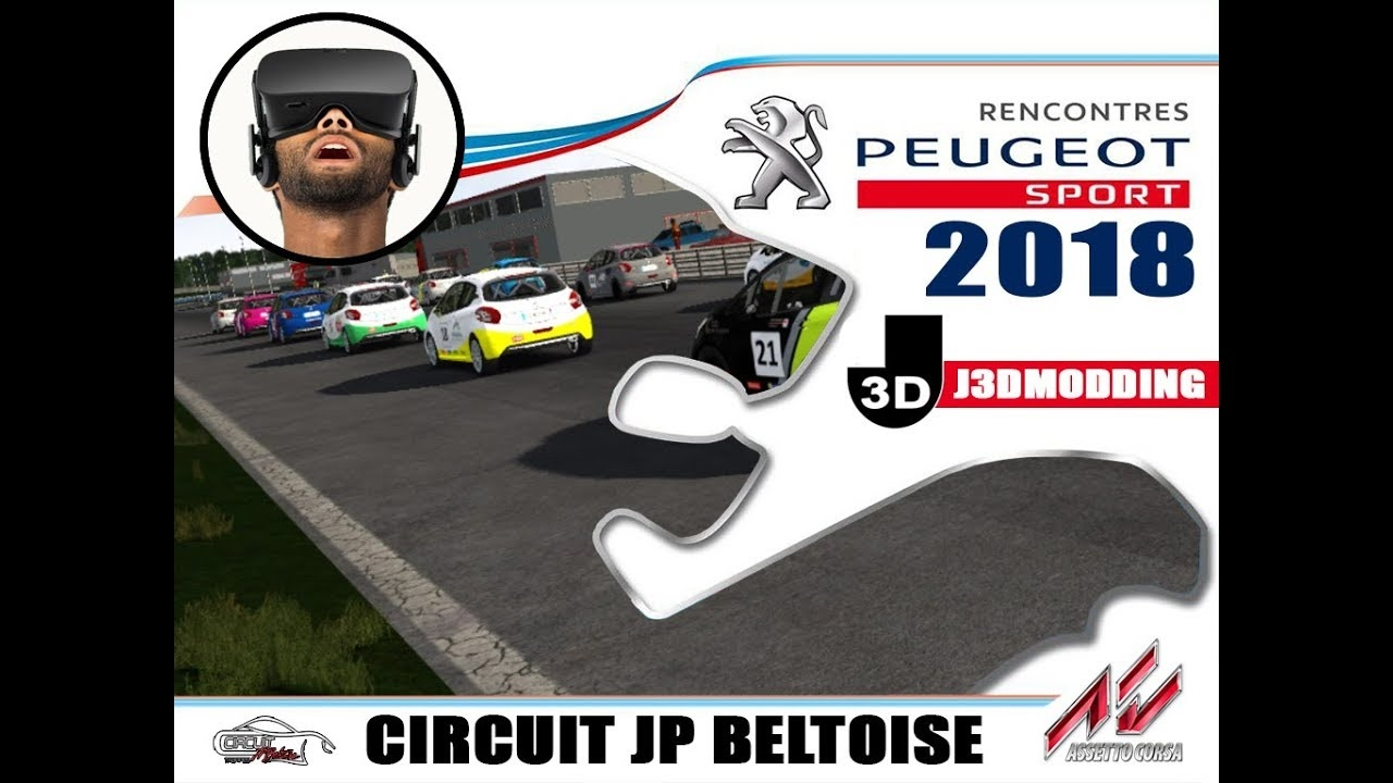 video championnat 208 rc 2018 circuit jp beltoise vr oculus rift in the album assetto. Black Bedroom Furniture Sets. Home Design Ideas
